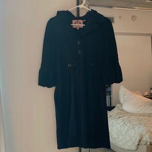 Juicy Couture Black Hooded Swing Jacket